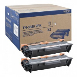 2 Cartuchos de toner de alta capacidad Brother TN-3380