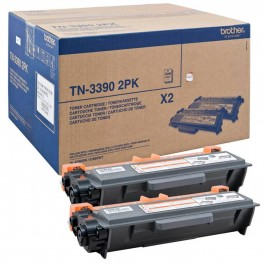 2 Cartuchos Toner Brother Negro TN3390