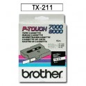 Cinta laminada blanca Brother TX-211