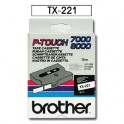 Cinta laminada blanca Brother TX-221