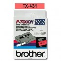 Cinta laminada roja Brother TX-431