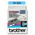 Cinta laminada azul Brother TX-531