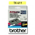 Cinta laminada amarillo Brother TX-611