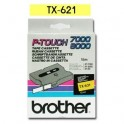 Cinta laminada amarillo Brother TX-621
