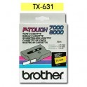Cinta laminada amarillo Brother TX-631