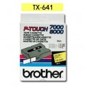 Cinta laminada amarillo Brother TX-641